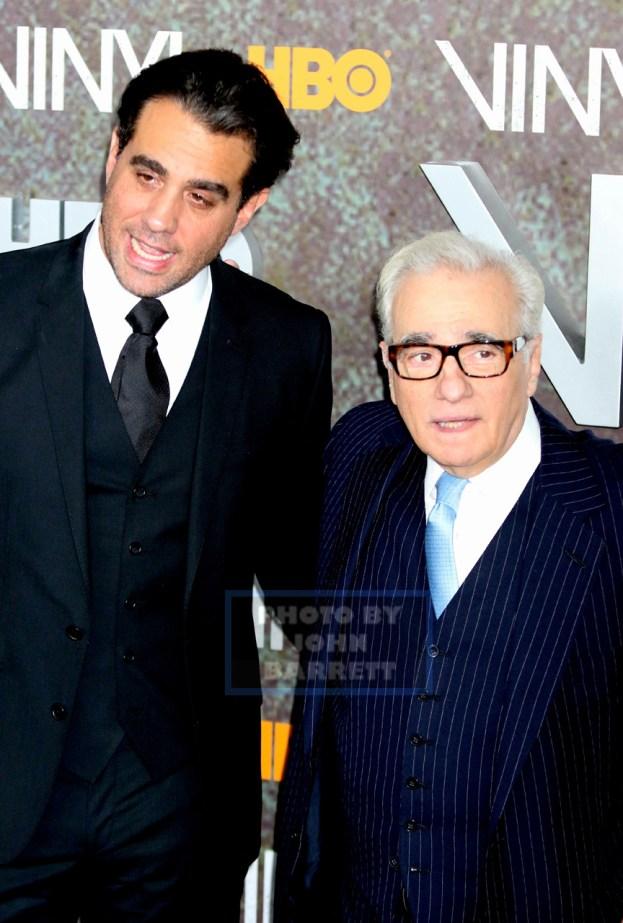 BOBBYCANNAVALE,MARTIN SCORSESE at HBO premiere of ''VINYL'' at Ziegfeld Theatre 1-15-2016 John Barrett/Globe Photos 2016