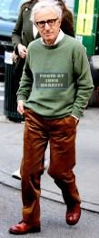 WOODY ALLEN on set of Amazon TV Series Woody Allen Untitled Project at East 69st Lexington Ave 3-7-16 John Barrett/Globe Photos 2016