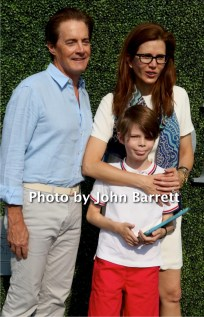KYLE MACLACHLAN,wife DESIREE and son CALLURN LYON at Tennis US Open Day 13 at Flushing Meadow Park,Queens 9-10-2016 John Barrett/Globe Photos 2016