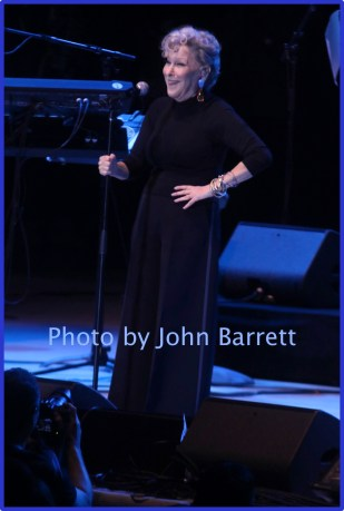BETTE MIDLER at Nile Rodger's Freak out Let's Dance Experience concert at Forest Hills Stadium 10-9-2016 John Barrett/Globe Photos 2016