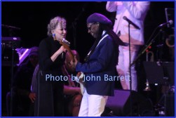 BETTE MIDLER,NILE RODGERS at Nile Rodger's Freak out Let's Dance Experience concert at Forest Hills Stadium 10-9-2016 John Barrett/Globe Photos 2016