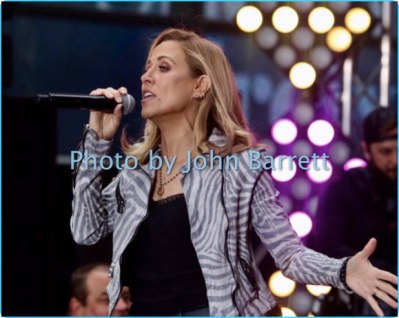 SHERYL CROW performing on NBC ''Today''Show at Rockefeller Plaza 4-19-17 Photo by John Barrett/Globe Photos 2017