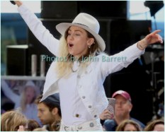 MILEY CYRUS performing on NBC ''Today ''Show at Rockefeller Plaza 5-26-17 John Barrett/Globe Photos 2017