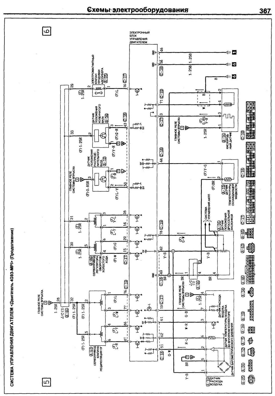 Электрическая схема Mitsubishi Pajero Pinin (Pajero iO)