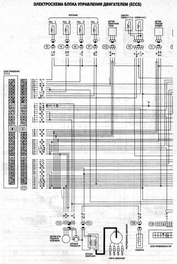 Электрические схемы Ниссан Микра 2 (Nissan Micra K11)