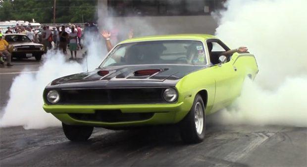 Mopar Muscle Car Burnout