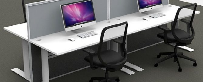 office desk and chairs