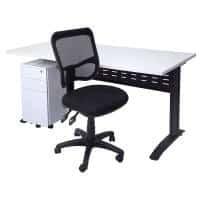 Space System Desk, Slimline Drawer Unit and Stradbroke Chair Package