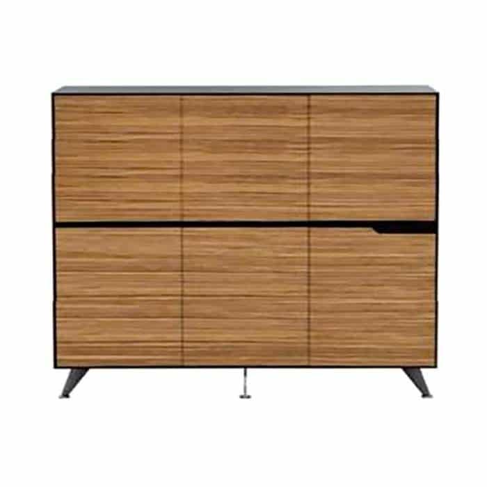 Milana 6 Door Cabinet, Large. 1855mm W x 425mm D x 1550mm H