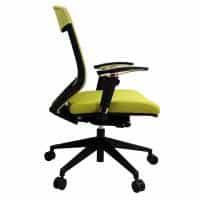 Lara Chair, Green, Side View