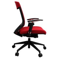 Lara Chair, Red, Side View