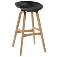 Hanna Bar Stool, Black Seat