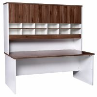 Aspect Sliding Door Credenza and Pigeon Hole Hutch with Doors