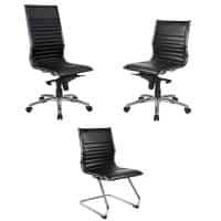 Aria Chair Range, Black Leather