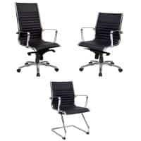 Atlantic Chair Range, Black Leather