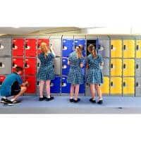 school plastic lockers