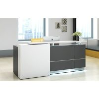 Contour Reception Desk, Right Hand White Front Feature Panel (right hand when seated)