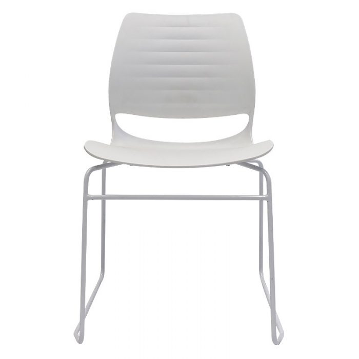 Cinta Chair, White, Front View