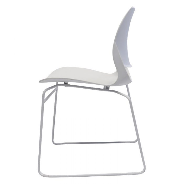Cinta Chair, White, Side View