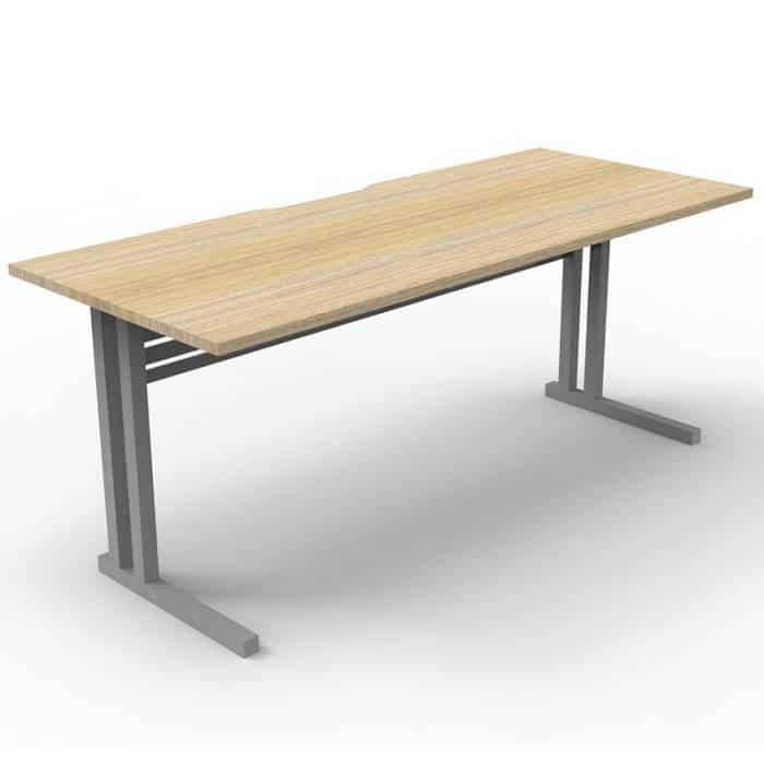 Space System Eco Deluxe Desk, Natural Oak Desk Top