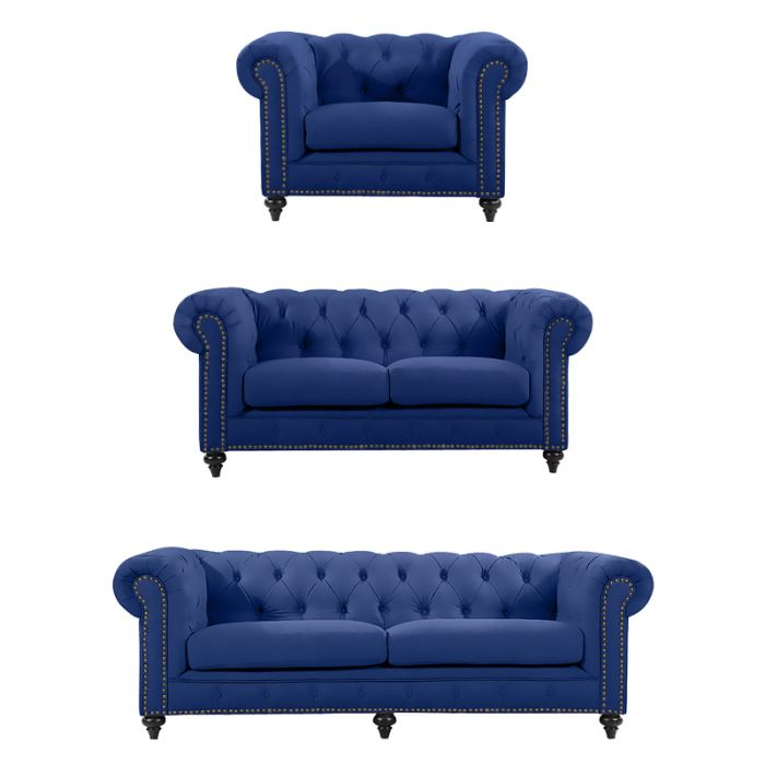 Blue Chesterfield Suite