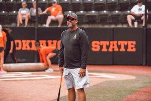 Kenny Gajewski Coaches Fielding Practice