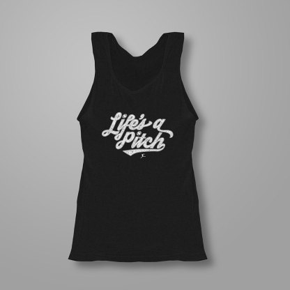 Life's a Pitch! - Fastpitch Tees Softball Tanktop