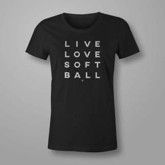 Live Love Softball - Fastpitch Tees Softball Tshirt