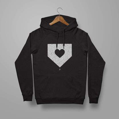 Softball Hoodie - Home is where the heart is