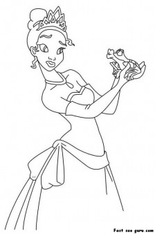 Print out A The Princess and the Frog coloring page