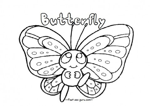 Printable Preschool Butterfly Coloring Pages Printable