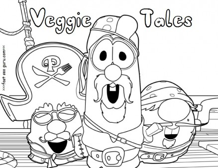 Printable veggie tales pirates coloring pages for