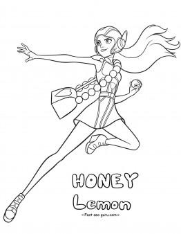 Printable Big Hero 6 Characters Honey Lemon Coloring Pages Free Printable Coloring Pages For Kids