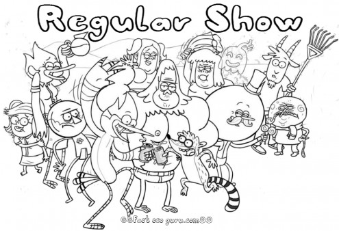 Printable cartoon network regular show coloring pages