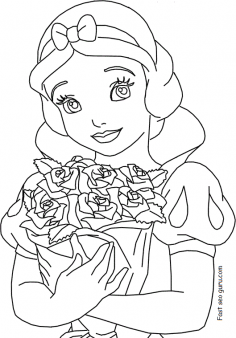 Printable disney princess snow white coloring pages