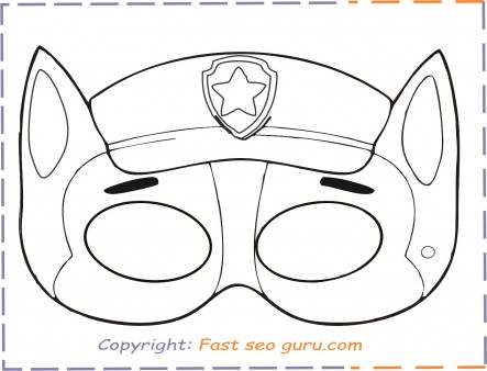 Paw Patrol Coloring Masks Printable Free Coloring Page