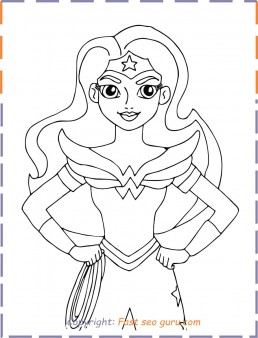 Wonder Woman Superhero Coloring Pages Free Printable Coloring Pages For Kids