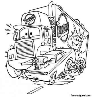 Mack car 2 Printbale coloring pages disney Characters