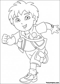 Printable Go Diego Go Disney Characters coloring page