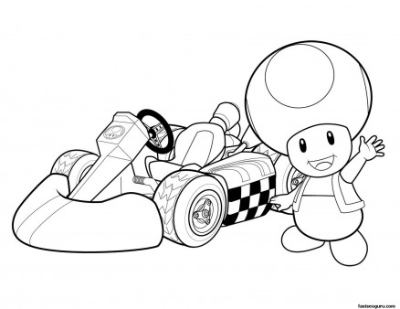 toad coloring pages # 6