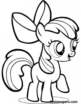 Printable My Little Pony Friendship Is Magic Apple Bloom
