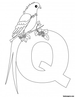 Printable Animal Alphabet worksheets Letter Q for Queen