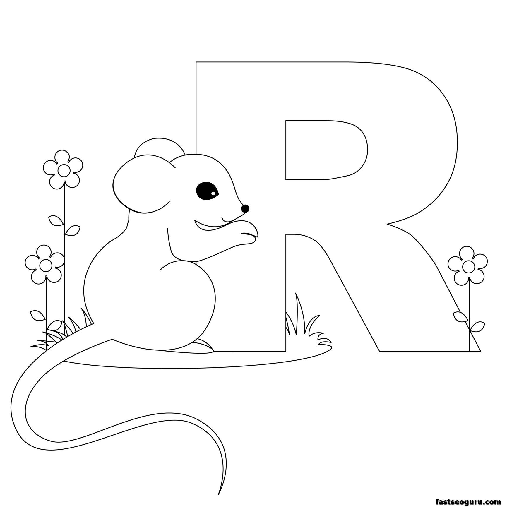 Printable Animal Alphabet Worksheets Letter R Is For Rat