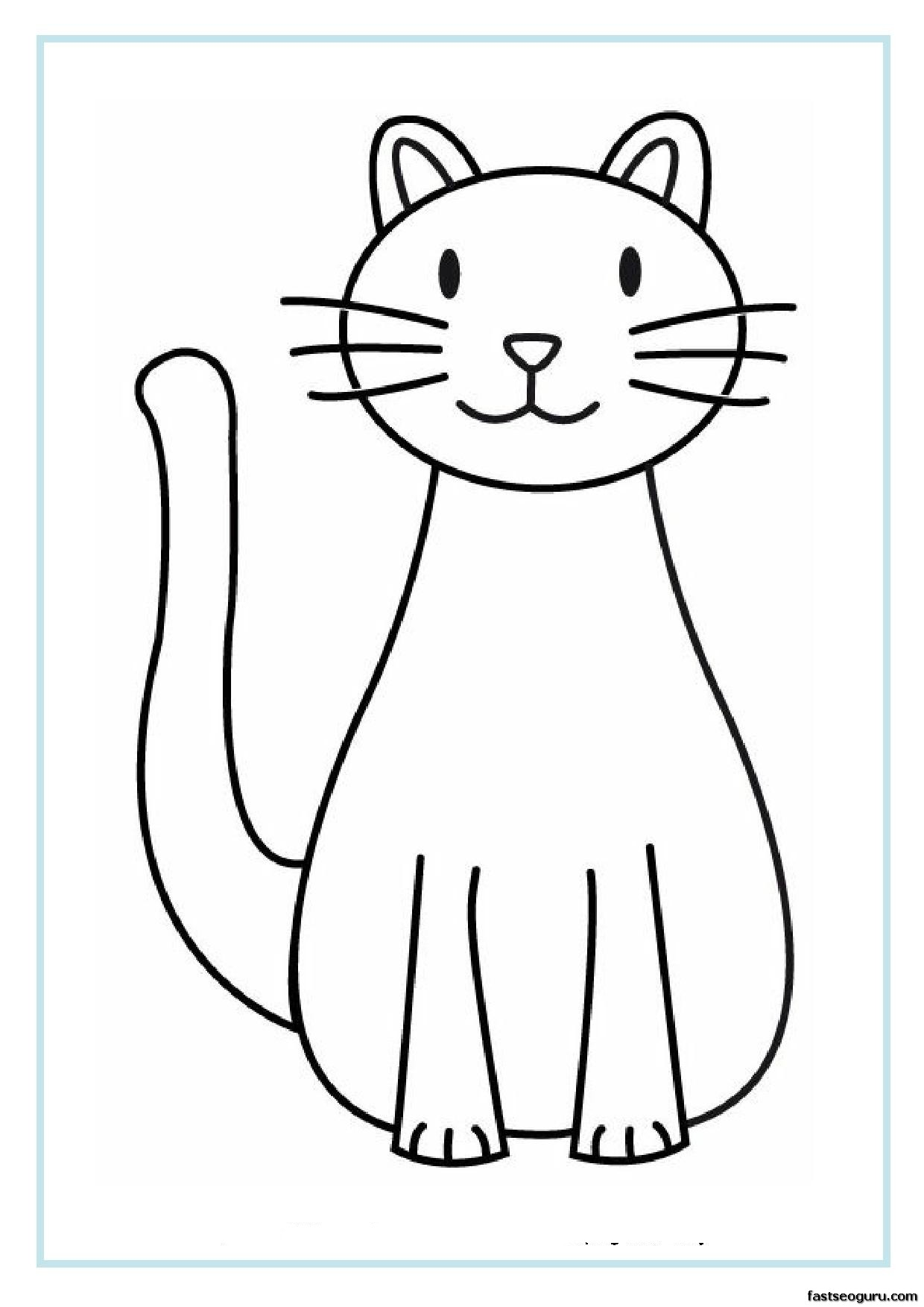 Printable Cat Coloring Pages For Kids