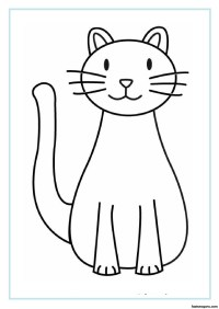 Printable Cat coloring pages for kids - Printable Coloring ...