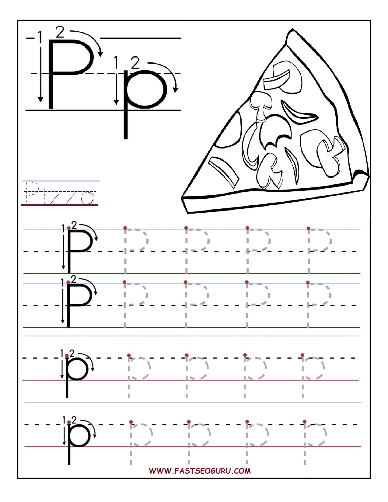 Tracing Worksheets Printable Letters And Worksheets On