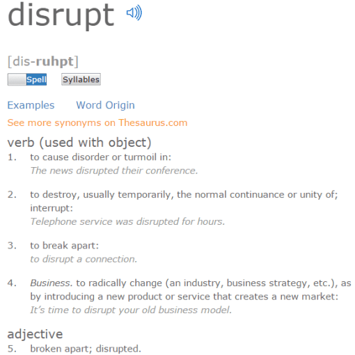 disruptive dictionary