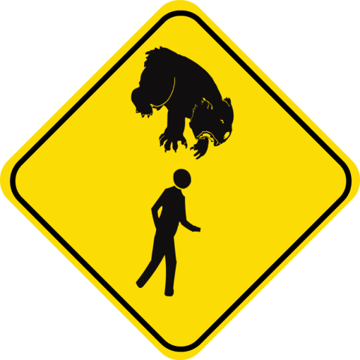 drop bear sign