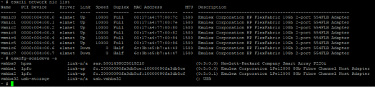 Check in-use drivers NIC and HBA