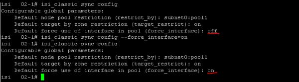 SyncIQ force_interface